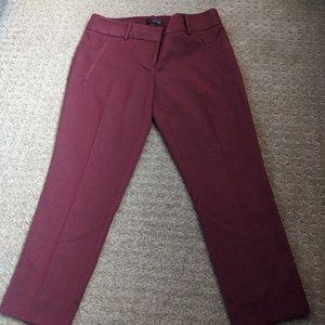 The Limited Wine Pencil Capri Pants